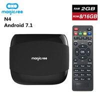 Magicsee N4 Smart TV BOX Amlogic S905X Android 7.1 Quad Core 4K Resolution 2GB/16GB 2G/8G 2.4G WIFI Set Top Box Pk X96 Mini