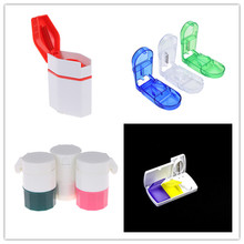1PC Pill Cutter Box Portable Convenient Storage Tablet Splitter Medicine Holder box 4 Style