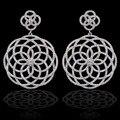 Novo design de luxo micro pave zircon brincos para mulheres, Alta qualidade / festa / casamento jóias acessórios