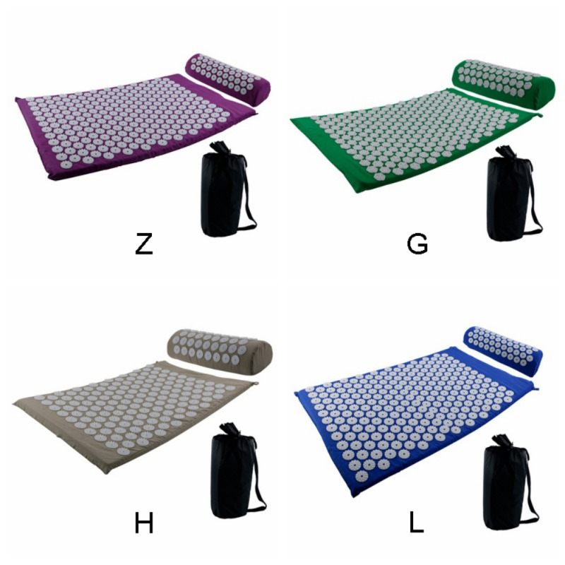 Acupressure massages mat which relieves stress and body pain including back neck and foot 6
