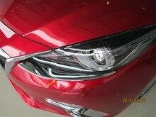 Авто Передняя крышка света, лампы Накладка для mazda 3 2014 Седан, abs хром, авто accessories.2pcs