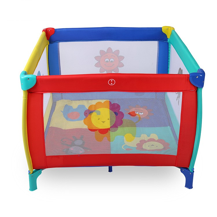 Hot Sale Cartoon Fun Baby Game Beds Folding Portable Indoor/Outdoor Safe Baby Kids Playpens Baby Cribs 2016 hot sale factory price hotel extra folding bed 12cm sponge rollaway beds for guest room roll away folding extra bed