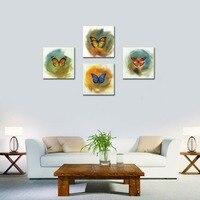 4 Unidades de Impresiones de la Lona de Arte de La Mariposa Contemporáneo Enmarcado Listo para Colgar Obras de Arte Pinturas Abstractas Modernas Decoraciones Para El Hogar