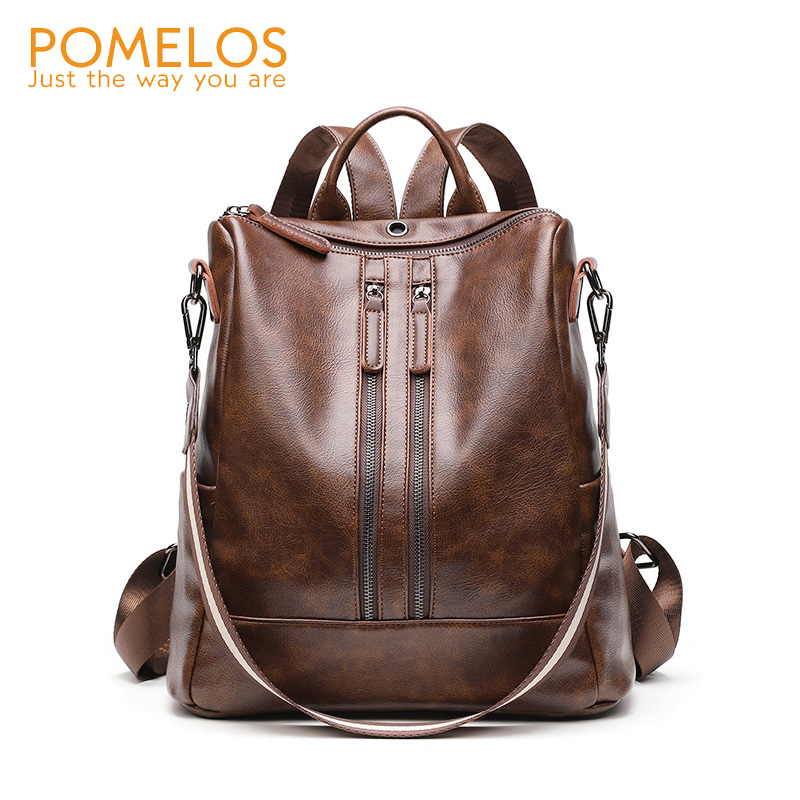 POMELOS Designer Backpack For Women Fashion New Synthetic Leather Women Backpack Travel Back Pack School Bags For Teenage Girls