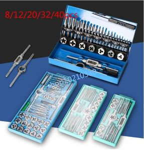 Image 2 - Hot ! 8/12/20/40pcs tap die set M3 M12 Screw Thread Metric Taps wrench Dies DIY kit wrench screw hand Tools Alloy Metal with box
