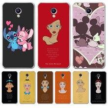 Luxury For Meizu M3S M5 M5S M5C M6 M3 Note U10 U20 Cover phone Case Silicone Coque Capinha Etui Mickey woman Alice Stitch