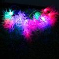 Navidad led Cadena de Luz Colorida 4 M 20LED AC 220 V lámpara a prueba de agua para el Patio de agujas de pino Guirnaldas de Vacaciones al aire libre decoración