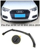 Высокое качество ABS/углеродного волокна Автомобиль отдел губ разветвители бампер фартуки чашки клапанами спойлер Подходит для AUDI A3 S3 RS3