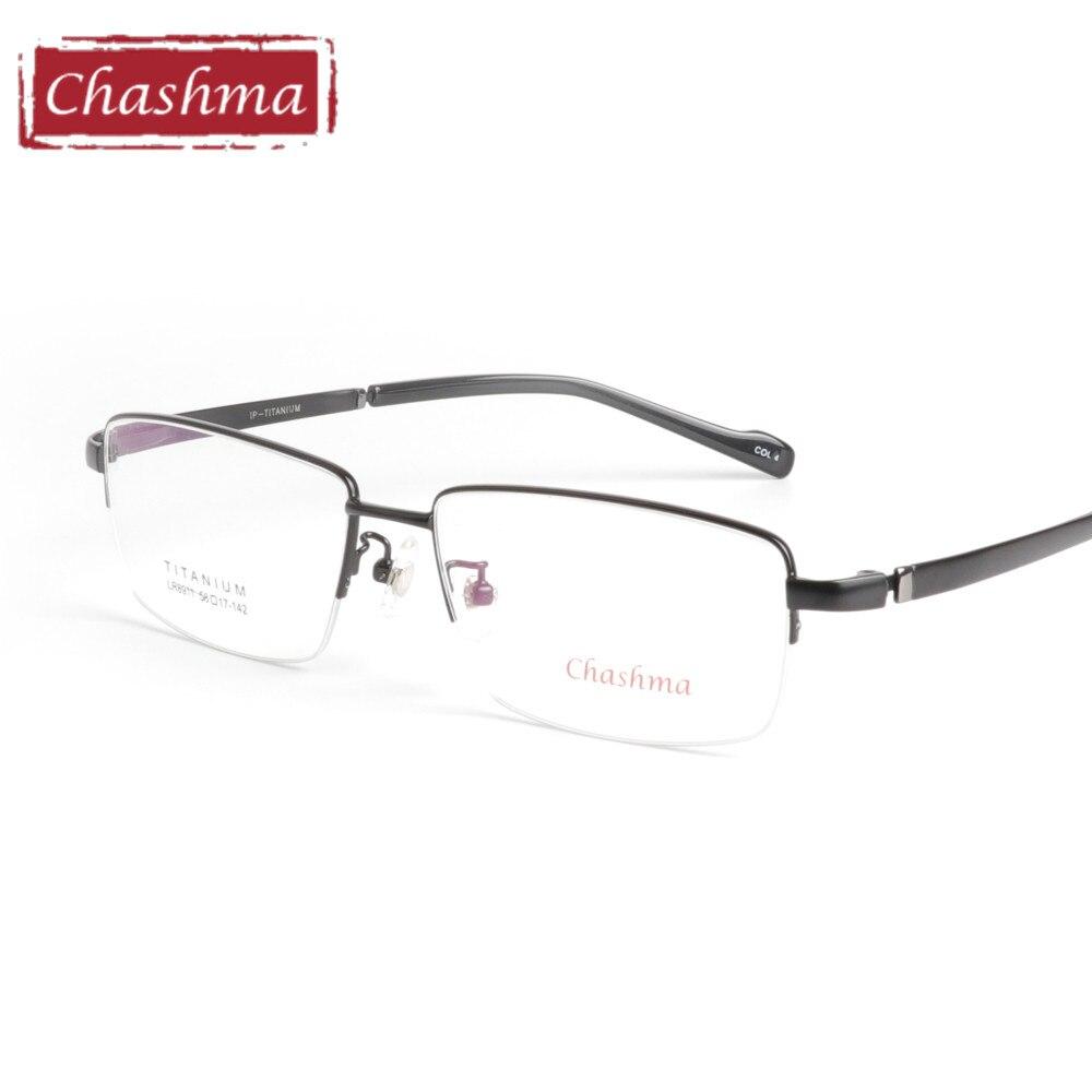 Chashma Brand Pure Titanium Eye Glasses Super Quality Light Glasses Eyeglasses Wide Big Eyewear Oversize Frames Men 150 Mm