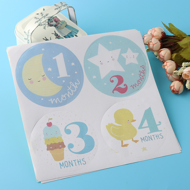 1 set 1 to 12 months 2017 new personalized baby girls boys monthly