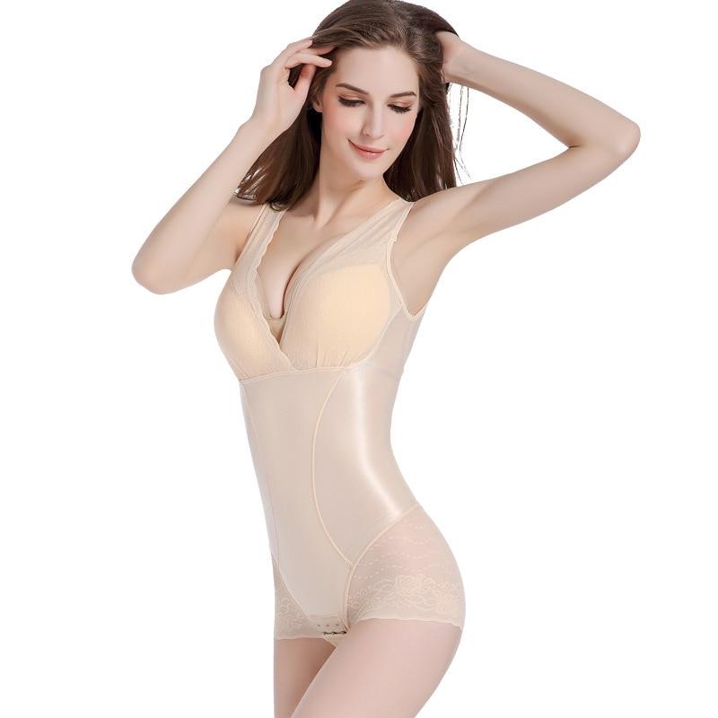 Women Lace Body Shaper Tummy Control Seamless Bodysuits Waist Cincher Corset Hot