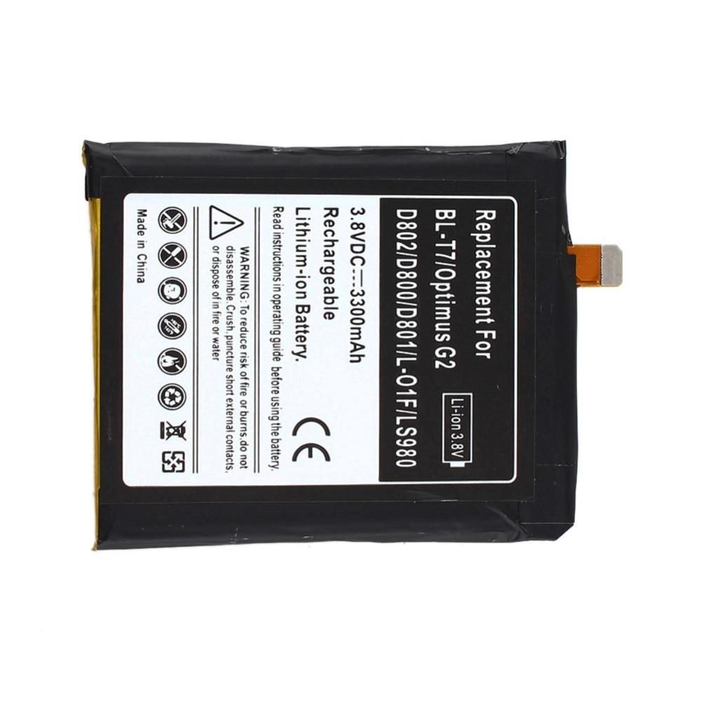 Li-ion <font><b>Battery</b></font> For LG 3300mAH Replacement <font><b>Battery</b></font> For LG Optimus G2 BL-T7 <font><b>D802</b></font> D800 D801 L-01F LS980
