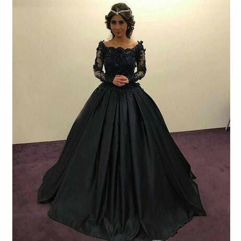 Black Muslim Vintage Ball Gown Wedding