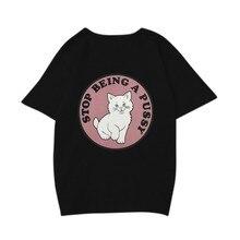 2018 Summer Funny O Neck Loose T Shirts Harajuku Ladies T-shirt Women Clothing