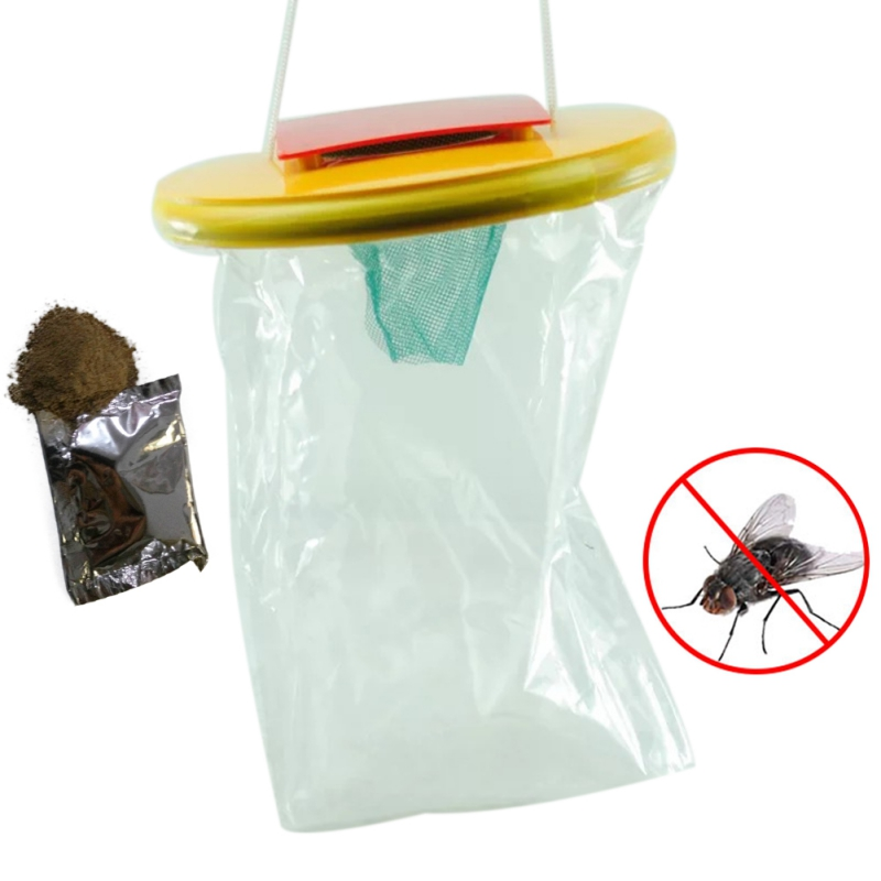 Folding Mosquito Capture Catching Fly Mesh Net Hanging Trap Insect Trap Garden Home Yard Supplies