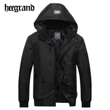 HEE GRAND 2017 Men Winter Jacket Warm Thicken Coat Cotton-Padded Fashion Parkas Business Plus Size Jackets And Coats MWM1446