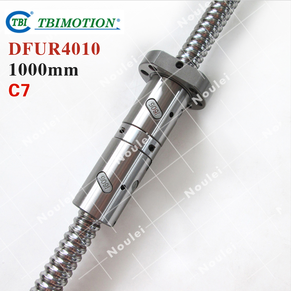 TBI 4010 C7 1000mm ball screw 10mm lead with DFU4010 ballnut Ground for high precision CNC diy kit DFU set tbi 2510 c3 620mm ball screw 10mm lead with dfu2510 ballnut end machined for cnc diy kit dfu set