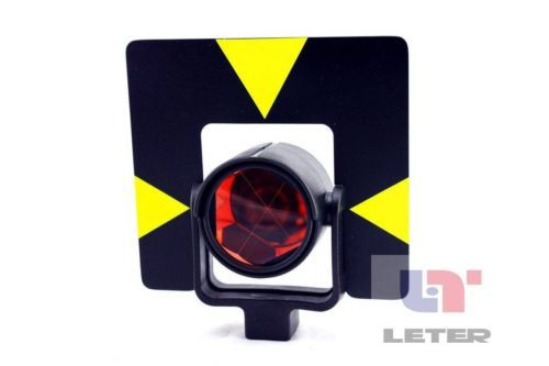 Single Prism with Soft Bag for Total Station with Type Connector single prism 0mm offset with yellow bag for total station free shipping
