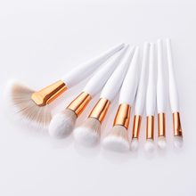 Cute Makeup Brushes Set Professional Make Up Fan Flat Foundation Brush Eyeshadow for Women Beauty(China)