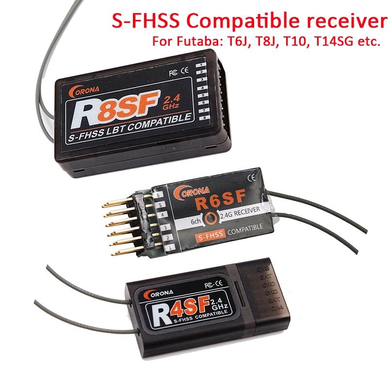 Corona 2,4g R4SF R6SF R8SF S-FHSS/FHSS empfänger kompatibel FUTABA S-FHSS T6 14SG