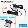 XCGaoon Straight mini USB Car Charger DC Converter Module 12V 24V To 5V 3A High Quality Low Voltage Protection Length 3.5m