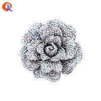 จัดส่งฟรี50ชิ้น/ล็อต44มิลลิเมตรเศษไม้เรซิ่นR Hinestoneดอกไม้ก้อน