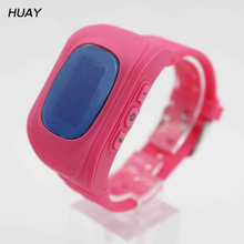 2018 Hot GPS Tracker Watch For Kids SOS Emergency Anti Lost Bracelet Wristband Wearable Devices LCD screen Smartphone App Q50