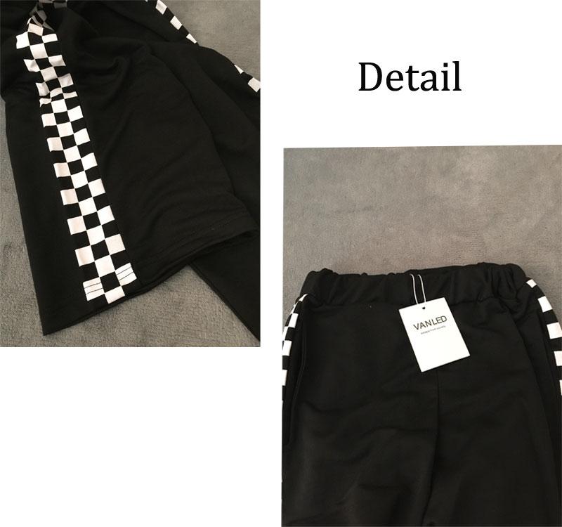 HTB1eqbuXg2DK1JjSZFOq6ybwFXaz - Checkerboard Pants Punk Black White Squares Cool  Street Trouser JKP003