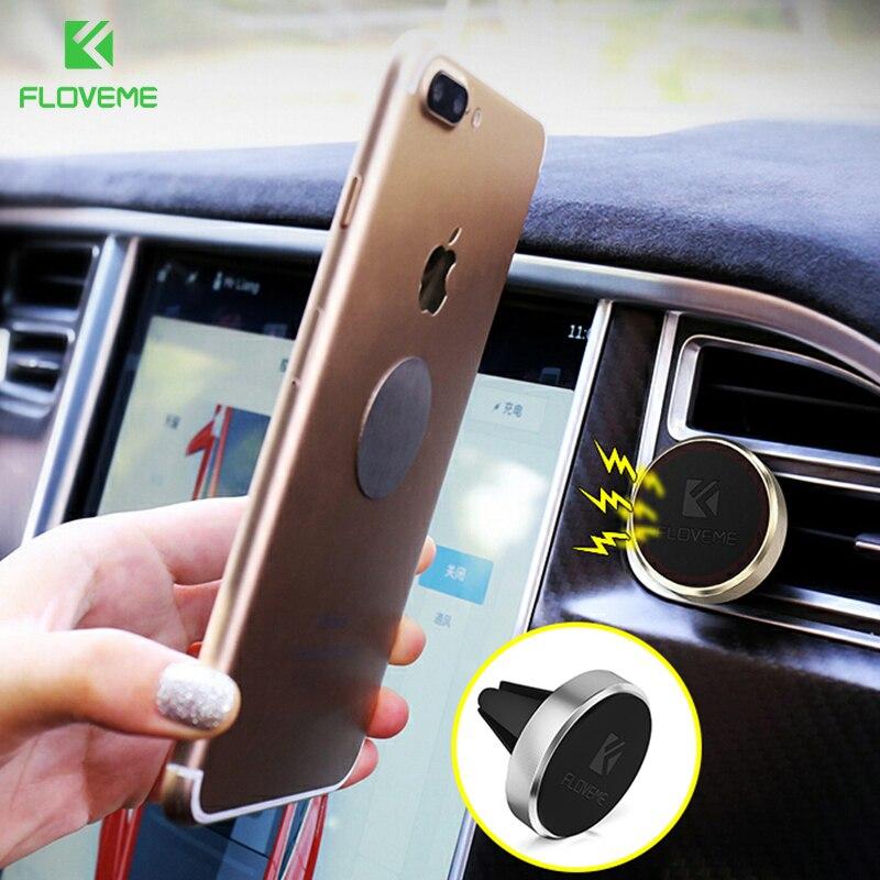 FLOVEME μαγνητικό τηλέφωνο κάτοχος αυτοκινήτου Air εξαερισμού Mount μαγνήτη Smartphone Dock τηλέφωνο στάση κράμα κράνος Bracket GPS για Iphone 7 6 Plus