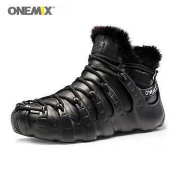 Onemix Men Women winter boots  shoes Trekking shoes Anti Slip Shoes for women outdoor trekking shoe sneakers winter warm keep