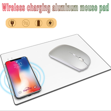 2019 newest Aluminium Alloy Charging Mouse Pad Qi Wireless Charger Non-Slip Mouse Mat For iphone X 8Plus/Samsung S8/Note 8