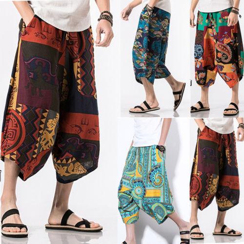 Detail Feedback Questions about 2018 New Harem Pants Trousers Baggy Pants  Men Casual Cotton Hippie Boho Loose Pant Wide Leg Hippie Floral Harem Pant  Size 36 ... 18b8cfef2d42