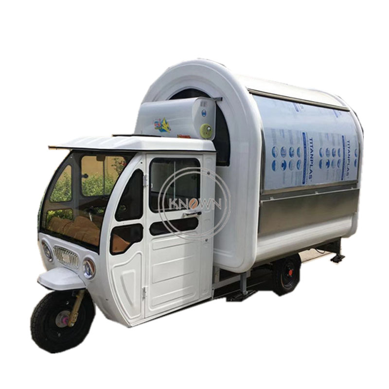 2.2m Food Cart Food Truck Electric Food Truck 3-wheelers With Conopy Price
