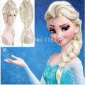 Free shipping popular cartoon girl Hair Wigs children Cosplay Wigs Elsa / Anna princess white fluffy long hair