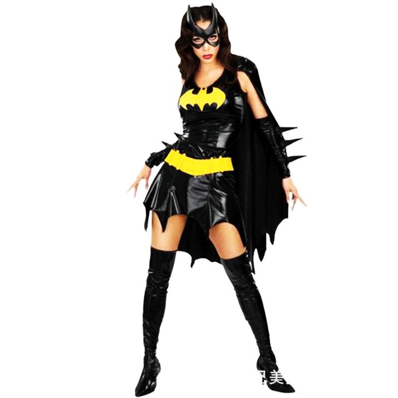 2018 high-quality black batman costume adult batgirl sexy superhero cosplay mask cape Wonder Woman costumes halloween for women