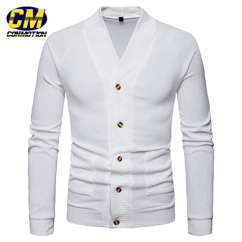 Fashion Men's Casual Knit Cardigan Sweater Solid Color Single Breasted Sweater Dropshipping and Wholesale