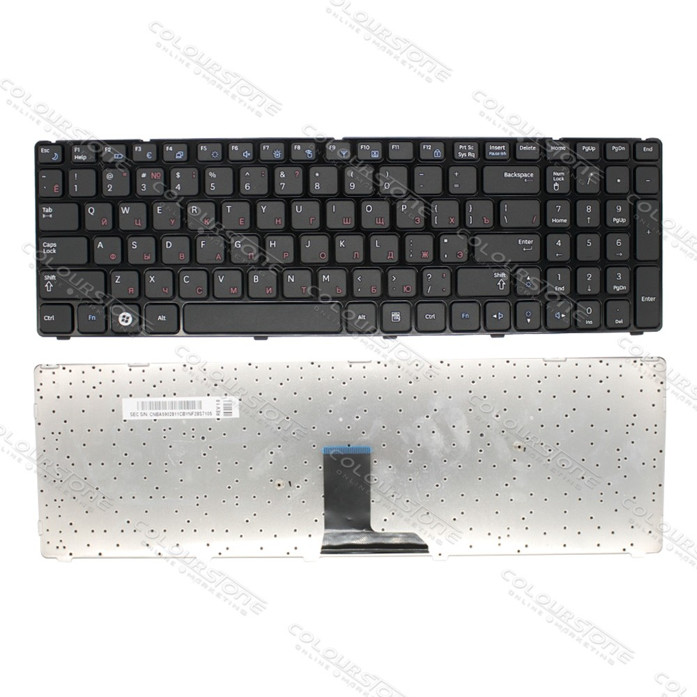 Original Brand New RU Laptop Keyboard for Samsung R580 Russian Black keyboard  (4)