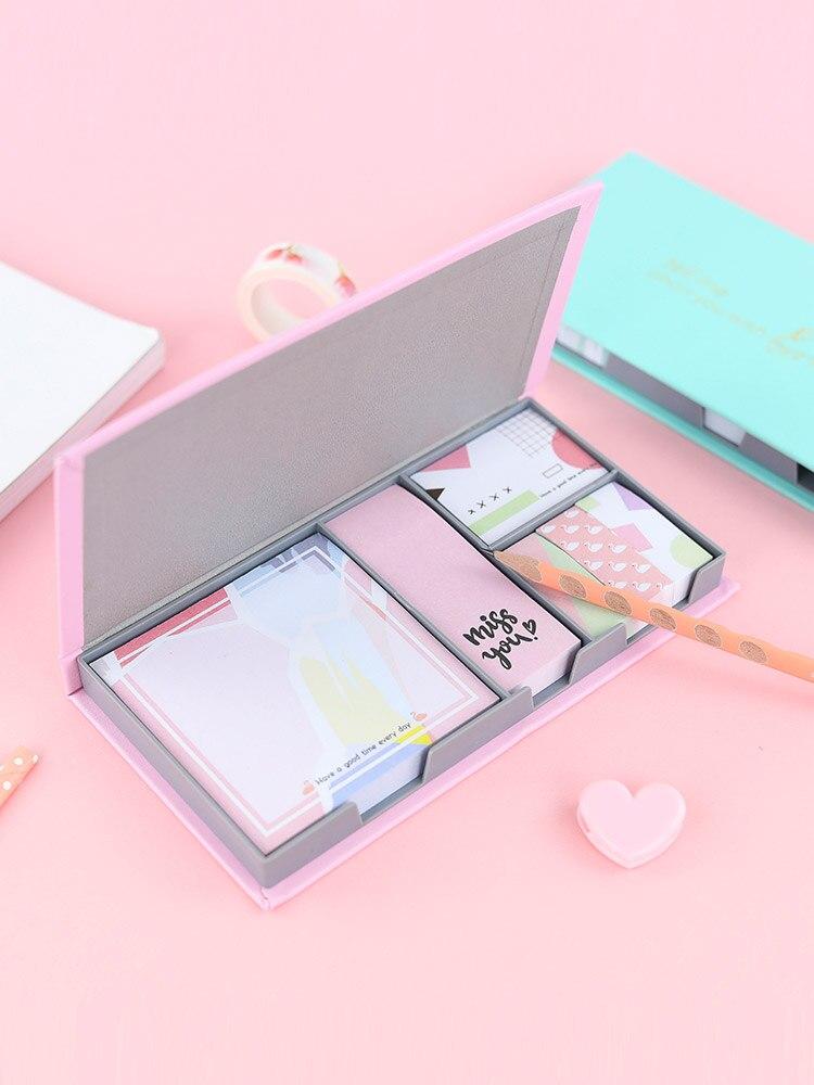 Kawaii Schreibwaren Post It Notes Papier Tragbare Zerreißbar Memo Note Pad Kleine Buch Niedlich Klebrige Block Notizen