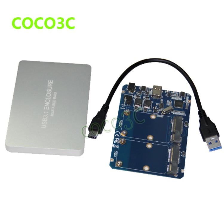Livraison Gratuite Boîtier SSD mSATA USB-C vers Adaptateur double - Stockage externe - Photo 4