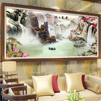 D SH Diamond Embroidery Traditional Chinese Landscape Painting Square/RoundDiamond Painting Living Room Decoration Diamond Paint