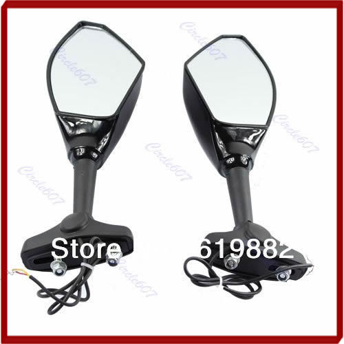 Распродажа! 1 пара LED поворотов сзади Зеркала для CBR GSX R GSF R6 R1 Ninja 1098 1198 600 1000