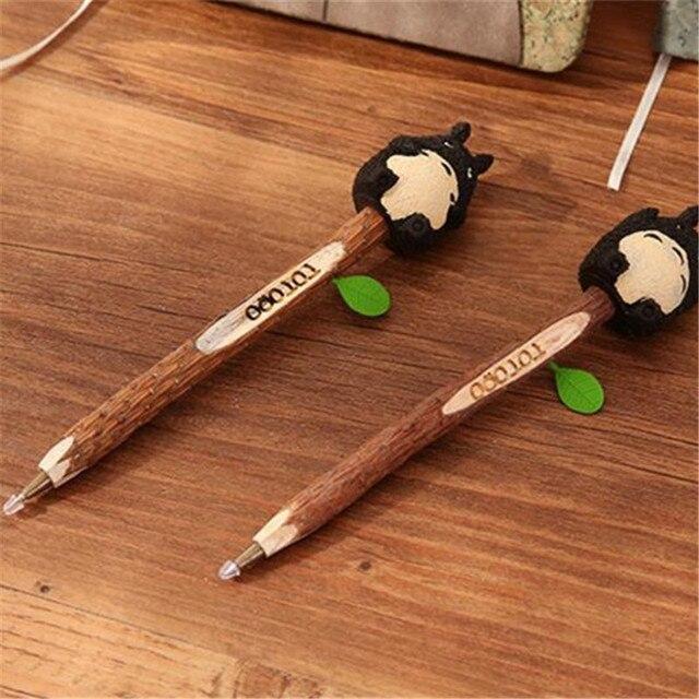 Аниме блокнот Тоторо деревянная обложка с ручкой 18 см 3