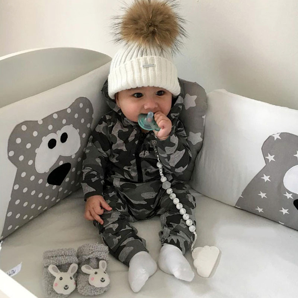 Infant Baby Boys Girls Camouflage Print Hooded Romper ...