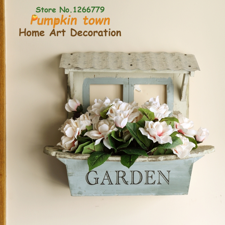 2018 NEW Rustic style high-quality wooden Flower house window molding wall decoration,wooden lattice window art wall decoration