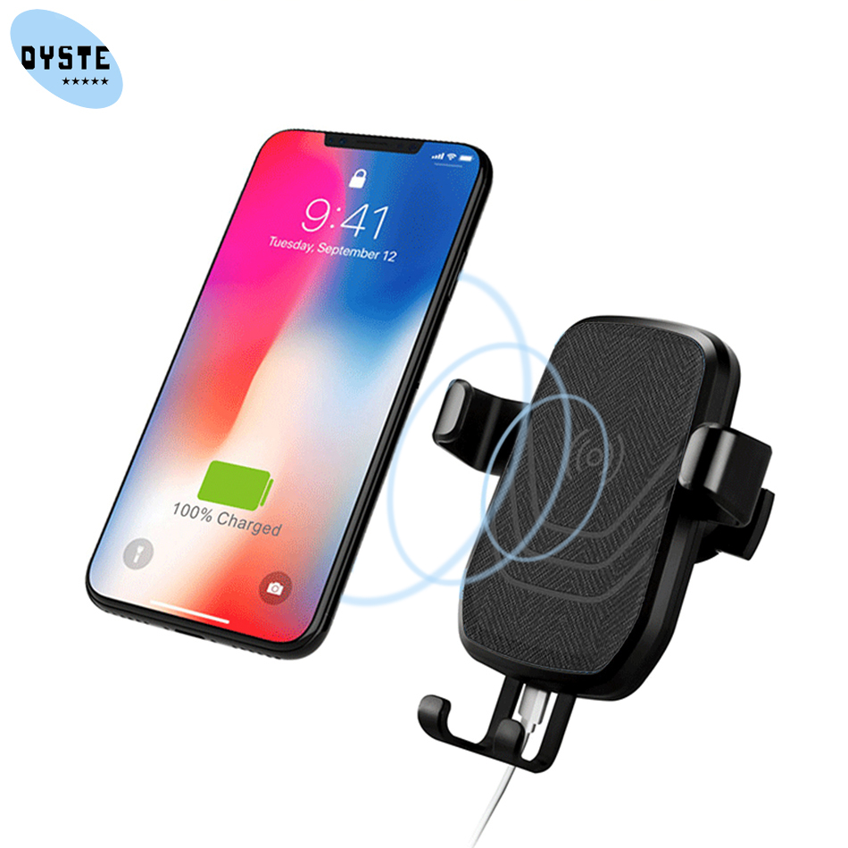 Qi Wireless car charger For Samsung S10 S9+ note 9 8 Wireless Charger Car Phone Holder For Samsung s8 s9 porta celular para auto