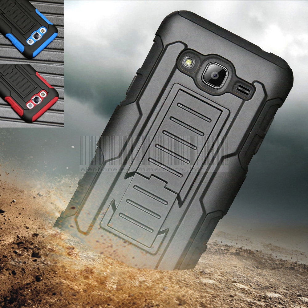 new concept 56033 51706 US $3.74 25% OFF|Phone Case For Samsung Galaxy J3 J300 J3000 Rugged Anti  shock Armor Impact Hybrid Hard Case Cover +Holdster With Belt Clip-in  Fitted ...