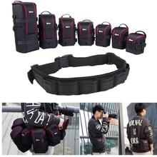 Фото регулируемый ремень DSLR мягкий камера пояс держатель ж/нейлон функциональный Мягкий объектив сумка чехол для Canon Nikon