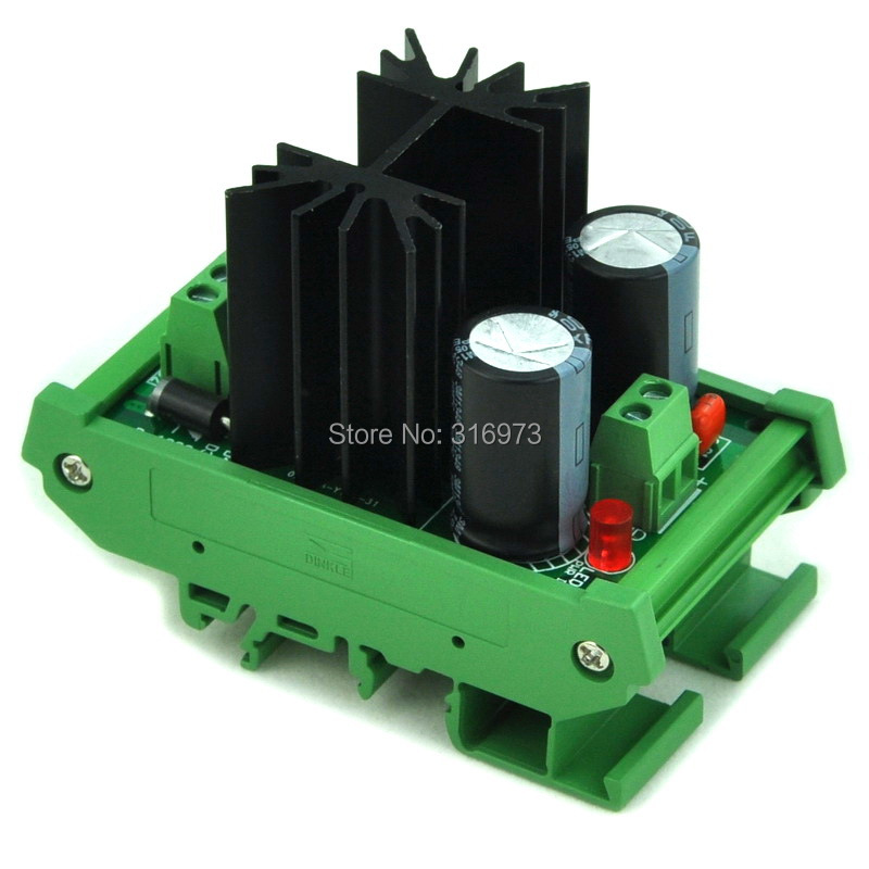 DIN Rail Mount Positive 5V DC Voltage Regulator Module, High Quality.DIN Rail Mount Positive 5V DC Voltage Regulator Module, High Quality.