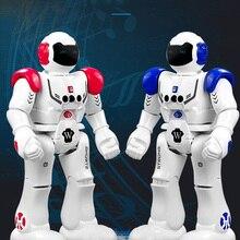 цена на IMPULLS 9930 RC Robot  Mechanical Police Intelligent Song Robot Remote Control Robot Programming Children Toys Gifts FSWB