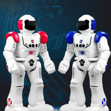 IMPULLS 9930 RC Robot Mechanical Police Intelligent Song Robot Remote Control Robot Programming Children Toys Gifts FSWB(China)
